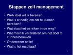 stappen zelf management