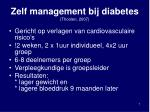 zelf management bij diabetes thoolen 2007