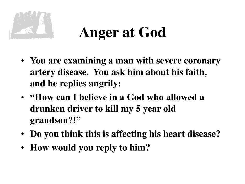 Anger at God