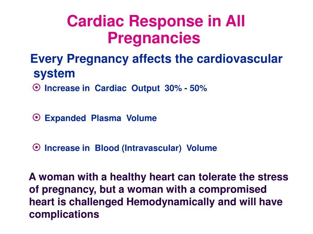 Cardiac Response in All Pregnancies