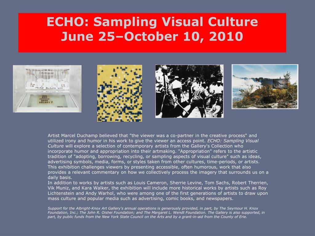 ECHO: Sampling Visual Culture