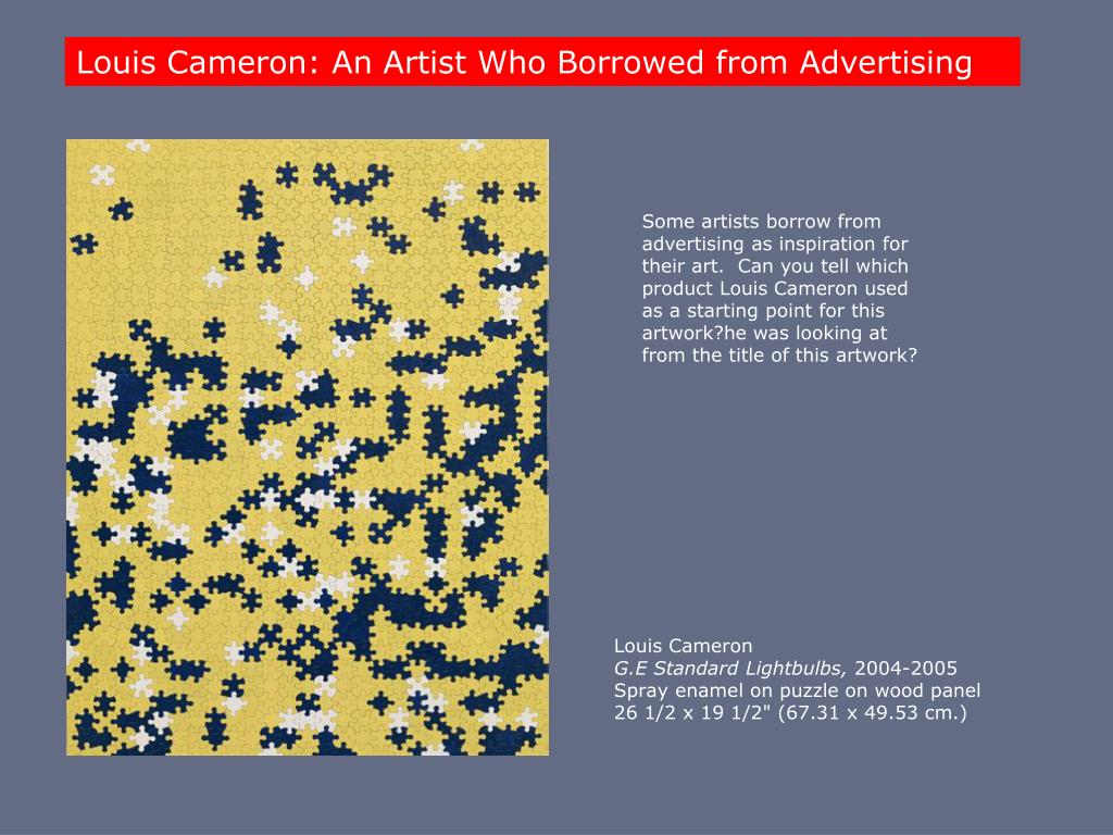 Louis Cameron: An Artist Who Borrowed from Advertising