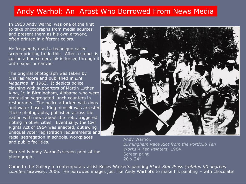 Andy Warhol: An  Artist Who Borrowed From News Media