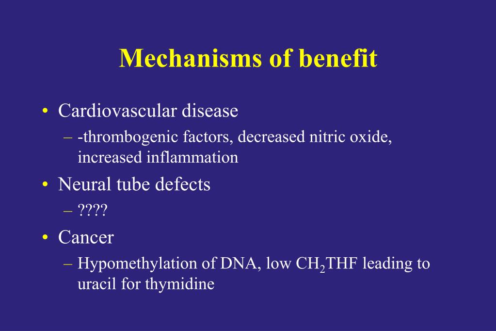 Mechanisms of benefit