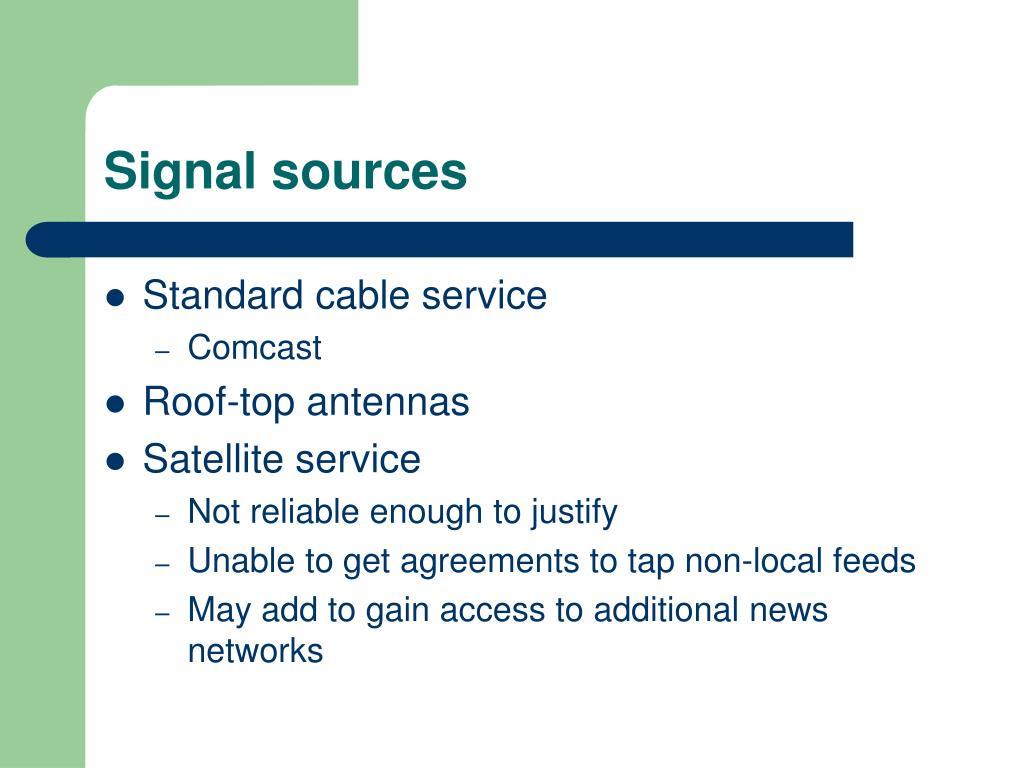Signal sources