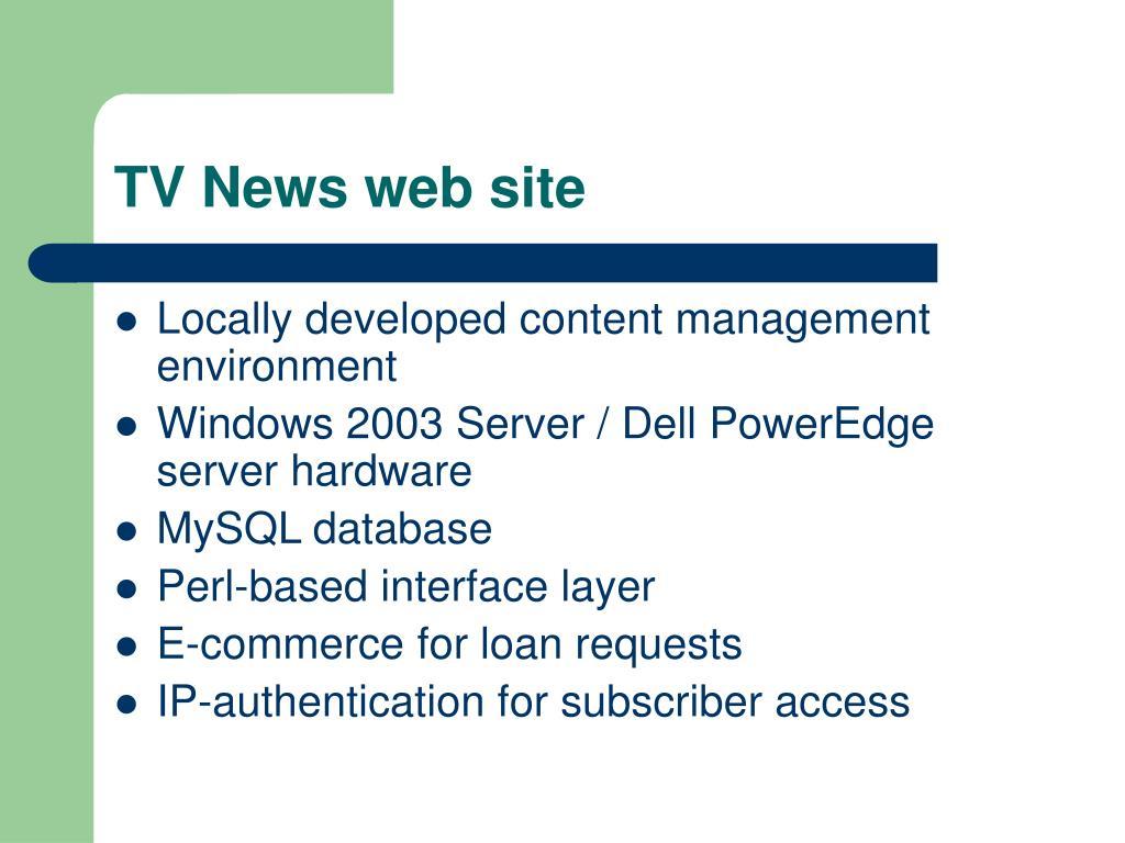TV News web site