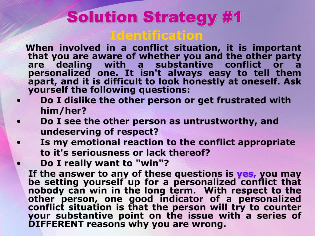 Solution Strategy #1