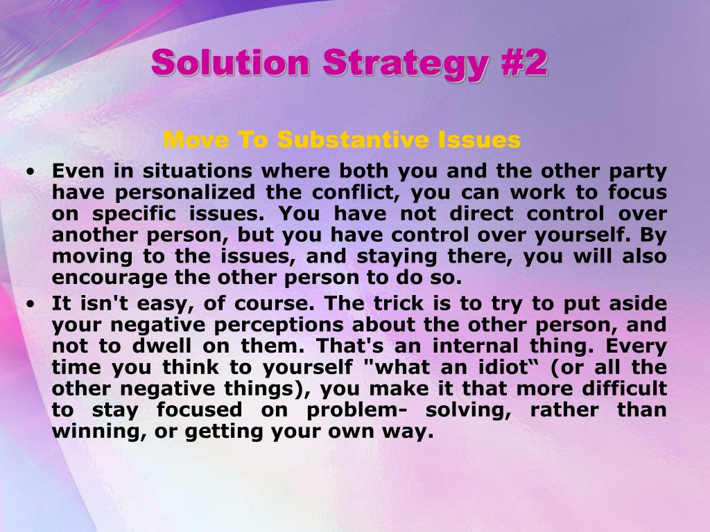 Solution Strategy #2