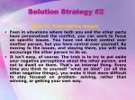 solution strategy 2