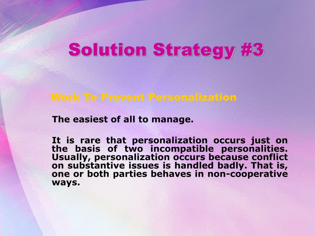 Solution Strategy #3
