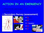 action in an emergency15