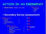 action in an emergency20