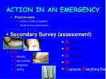 action in an emergency25