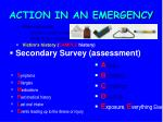 action in an emergency26