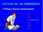 action in an emergency8