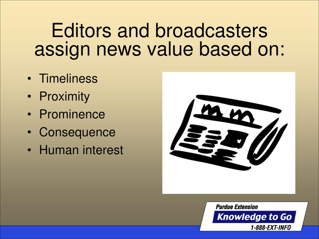 Editors and broadcasters