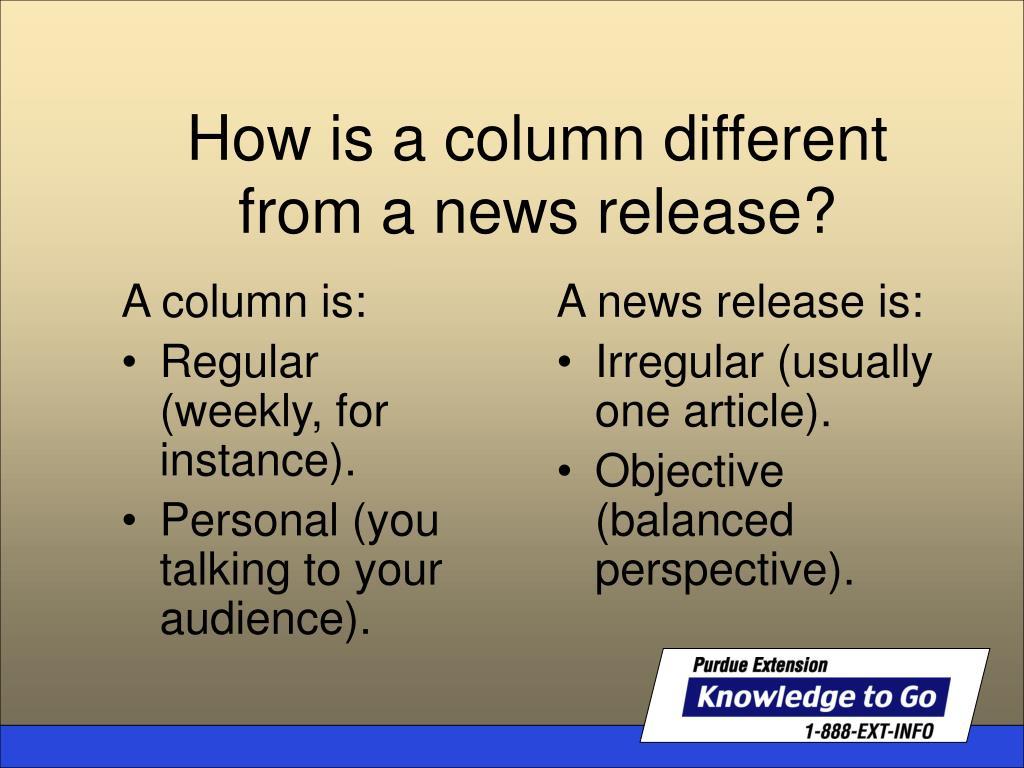 A column is: