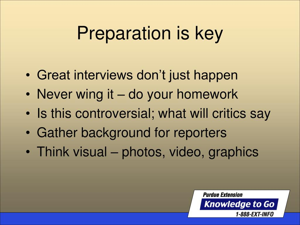 Great interviews don't just happen