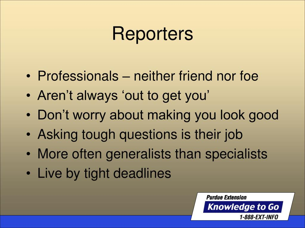 Professionals – neither friend nor foe