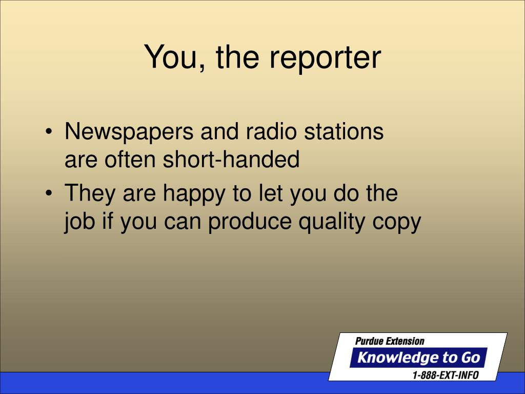 Newspapers and radio stations