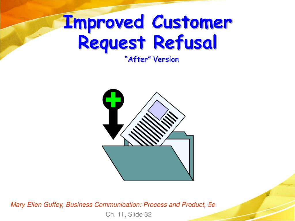 Improved Customer Request Refusal
