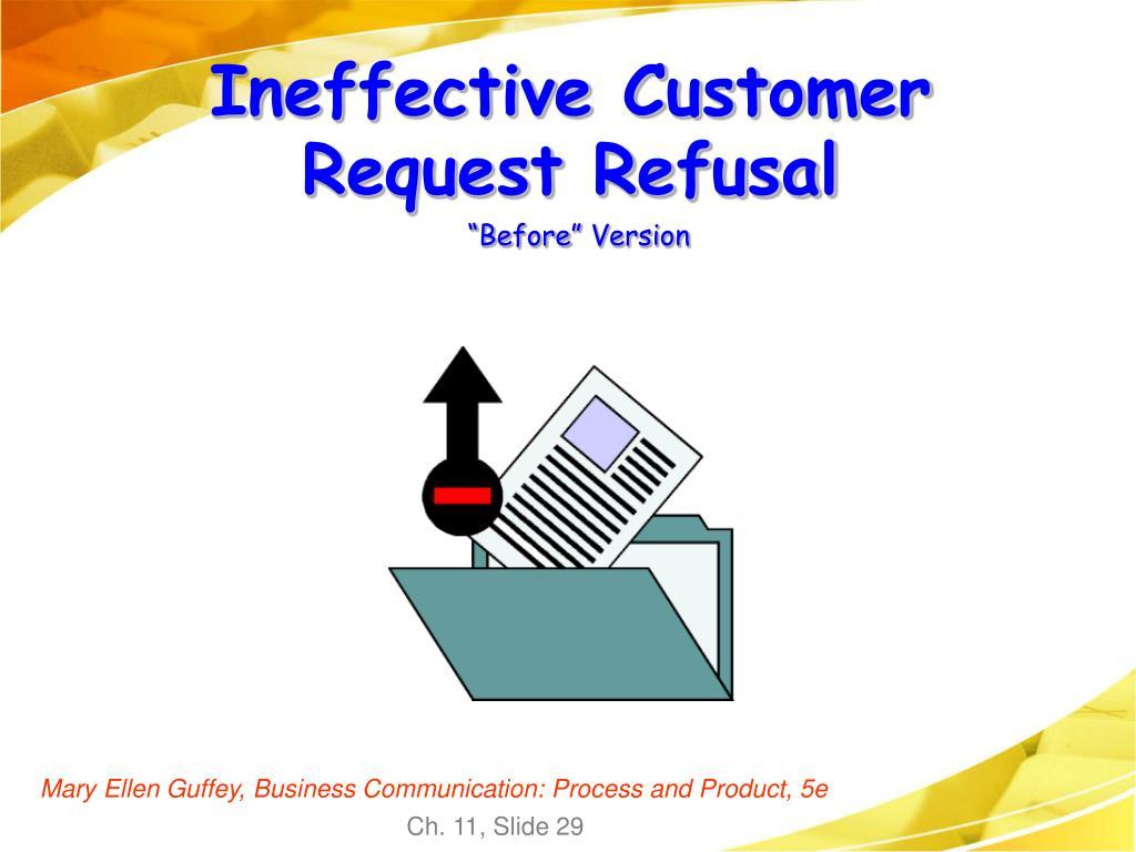 Ineffective Customer Request Refusal