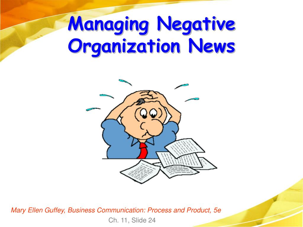 Managing Negative  Organization News