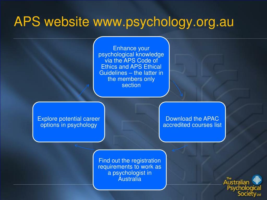 APS website www.psychology.org.au