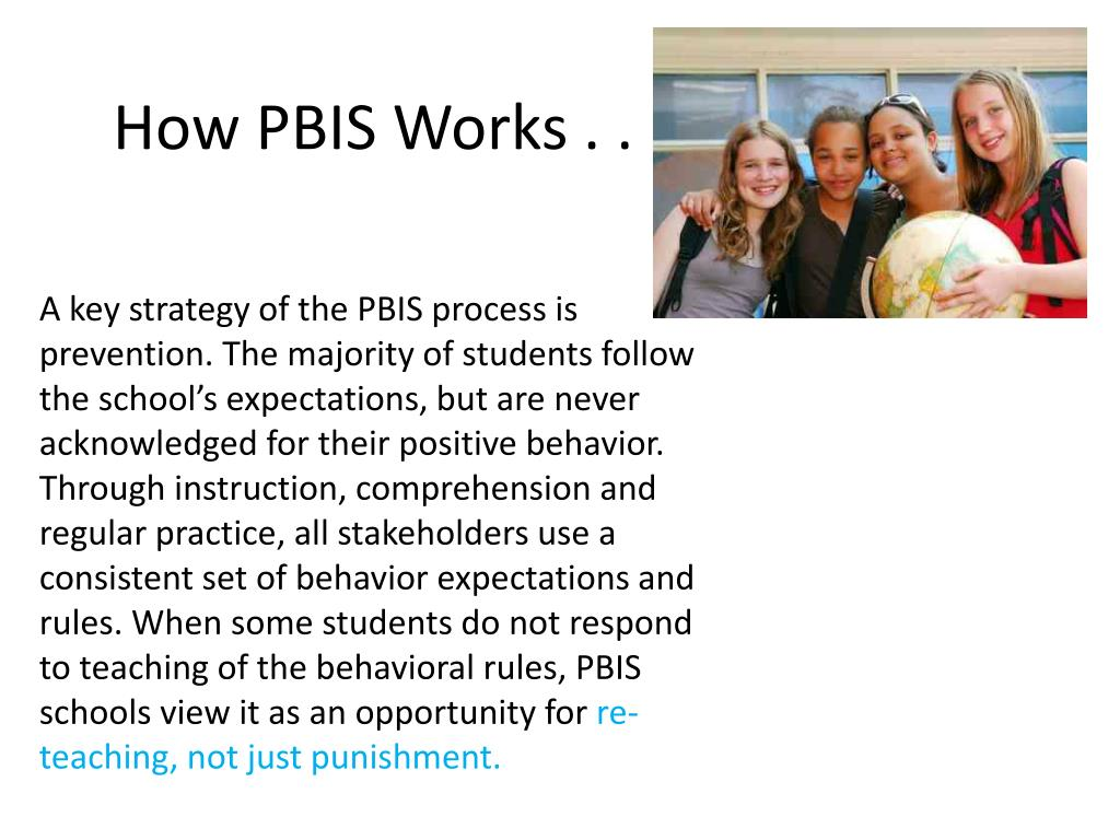 How PBIS Works . .