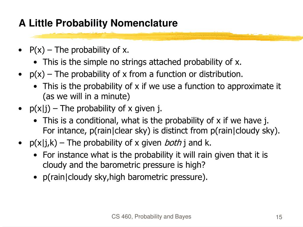A Little Probability Nomenclature