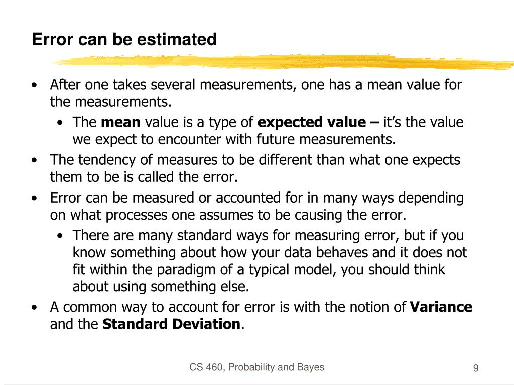 Error can be estimated