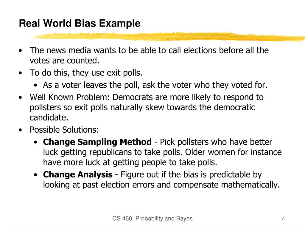 Real World Bias Example