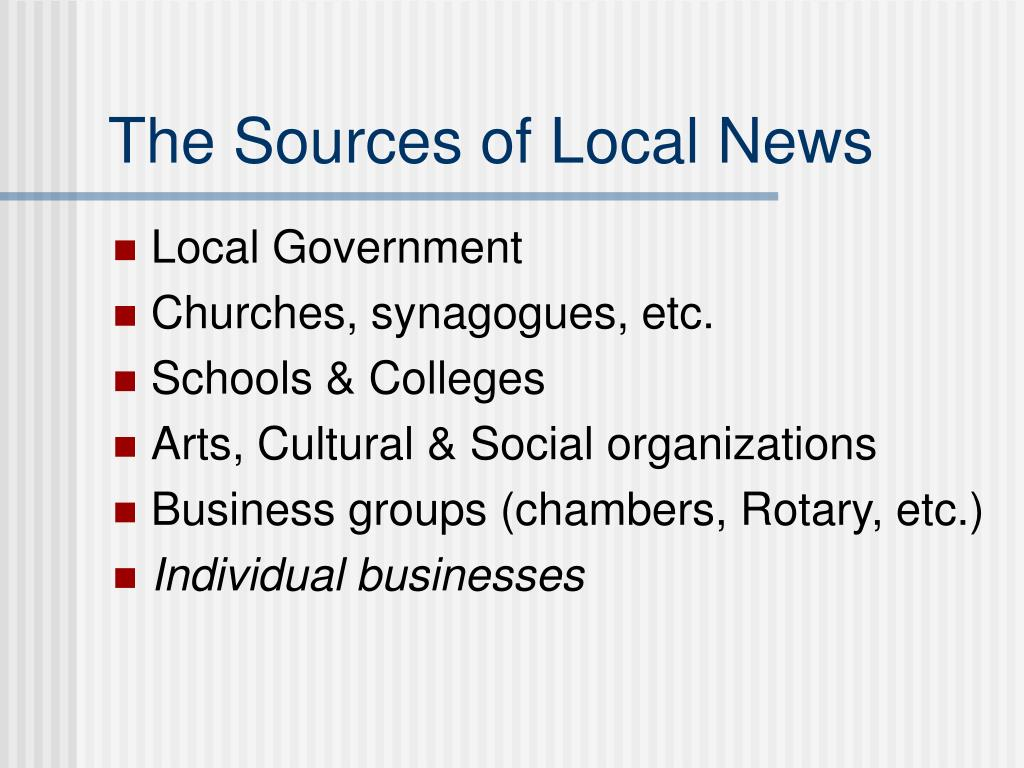 The Sources of Local News