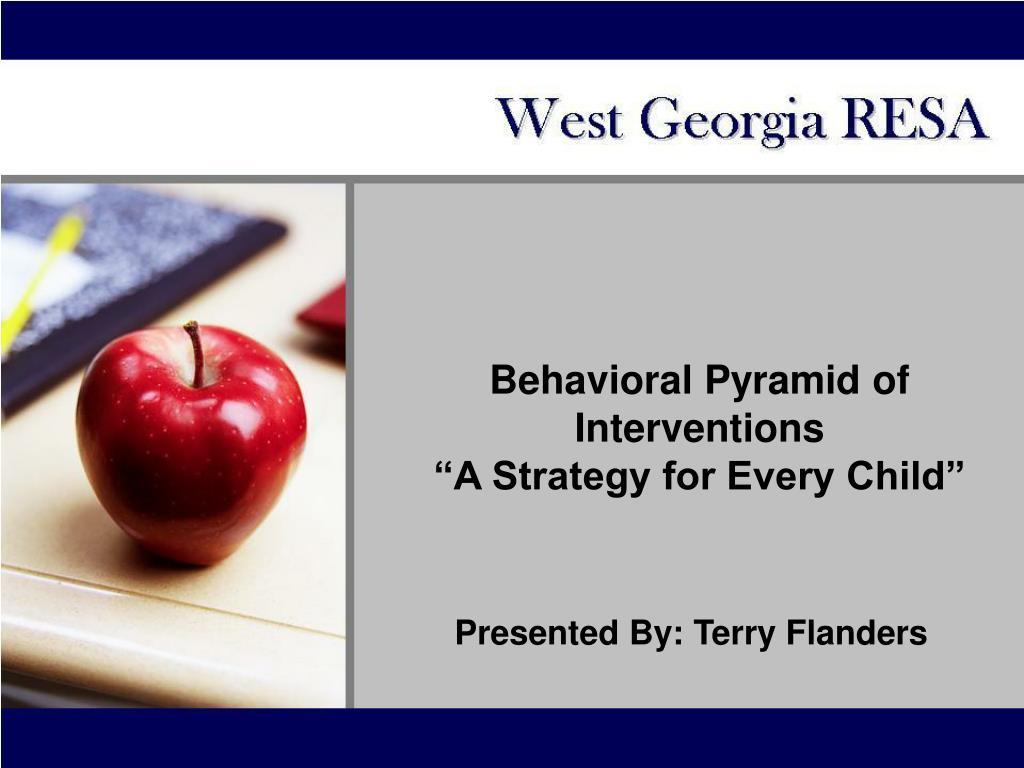 Behavioral Pyramid of Interventions