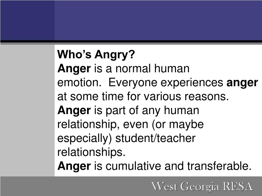 Who's Angry?