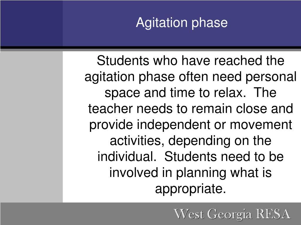 Agitation phase