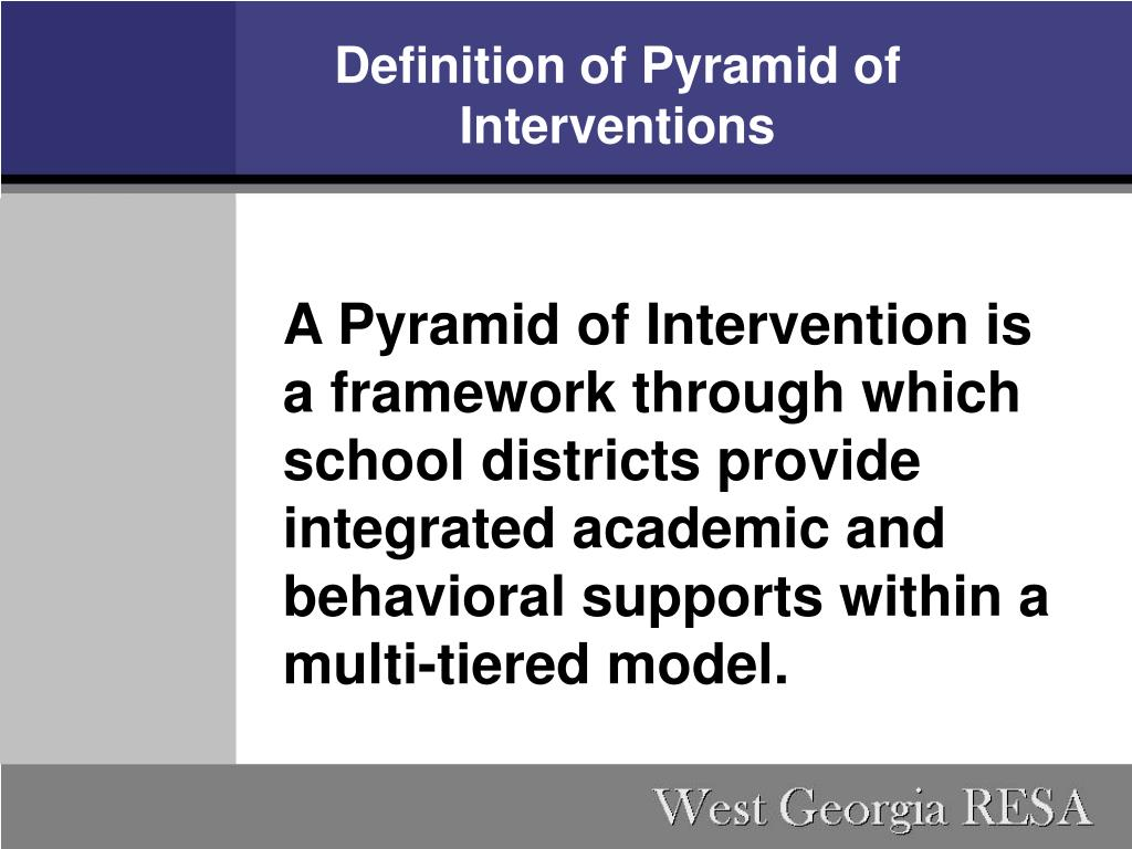 Definition of Pyramid of Interventions