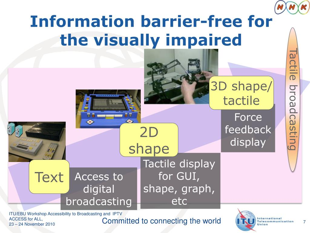 Information barrier-free for the visually impaired