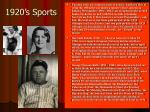 1920 s sports