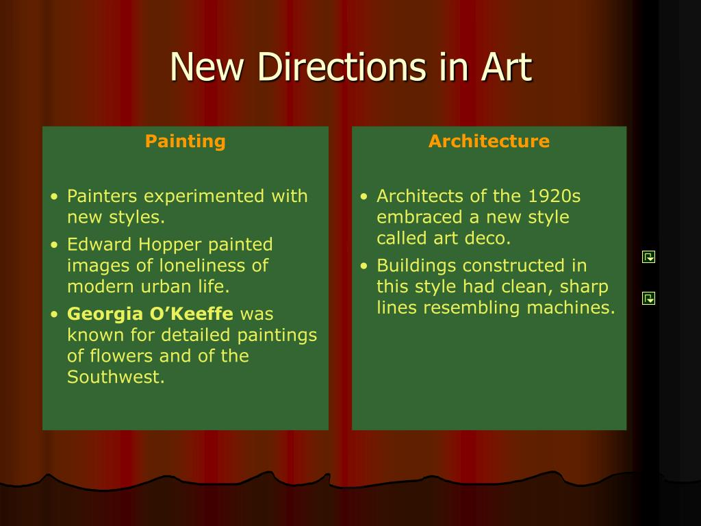 New Directions in Art