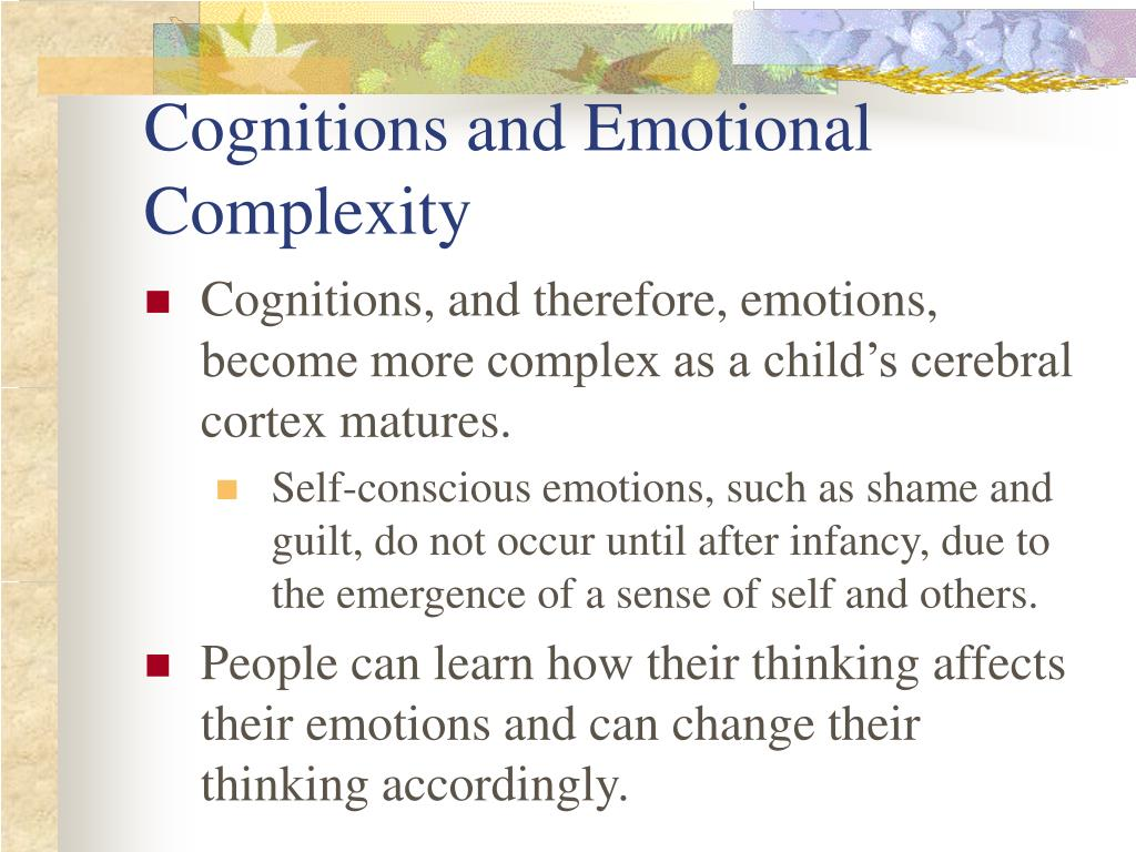 Cognitions and Emotional Complexity