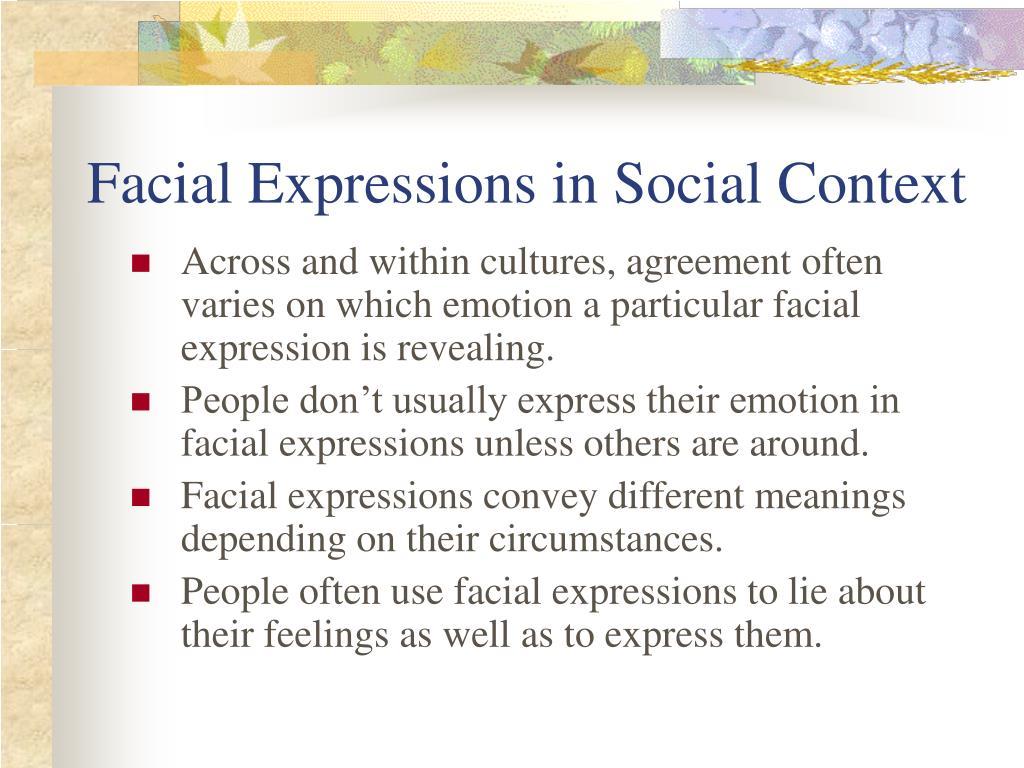 Facial Expressions in Social Context
