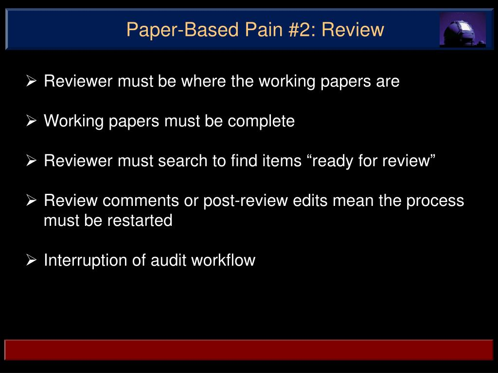 Paper-Based Pain #2: Review
