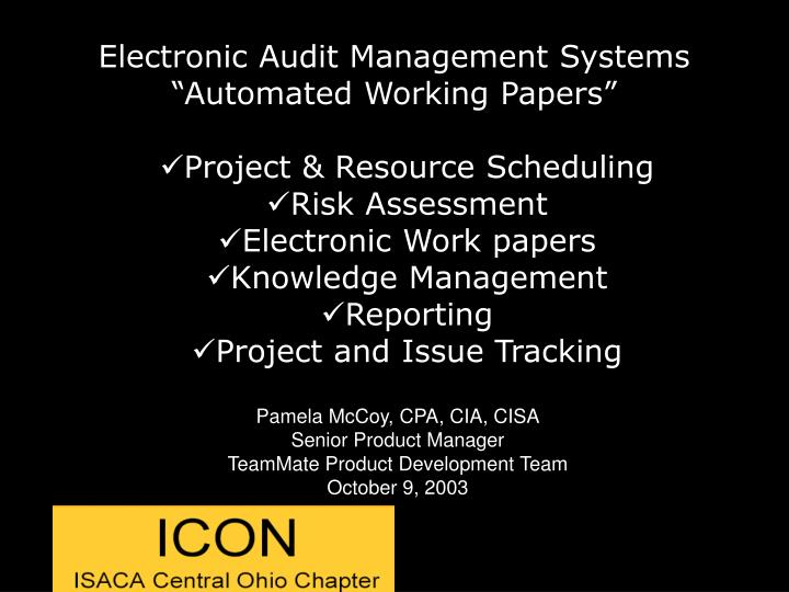 Electronic Audit Management Systems