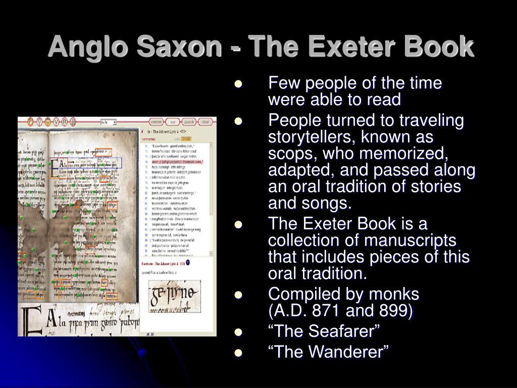Anglo Saxon - The Exeter Book