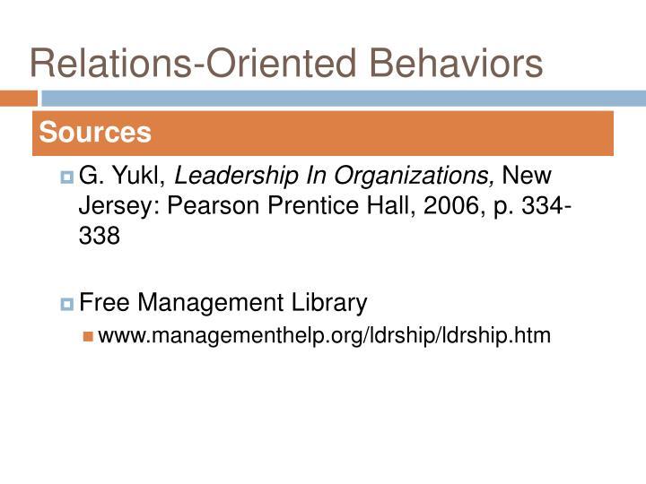 Relations-Oriented Behaviors