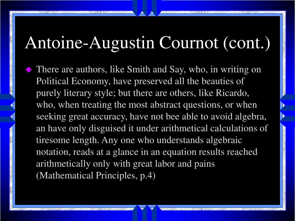 Antoine-Augustin Cournot (cont.)