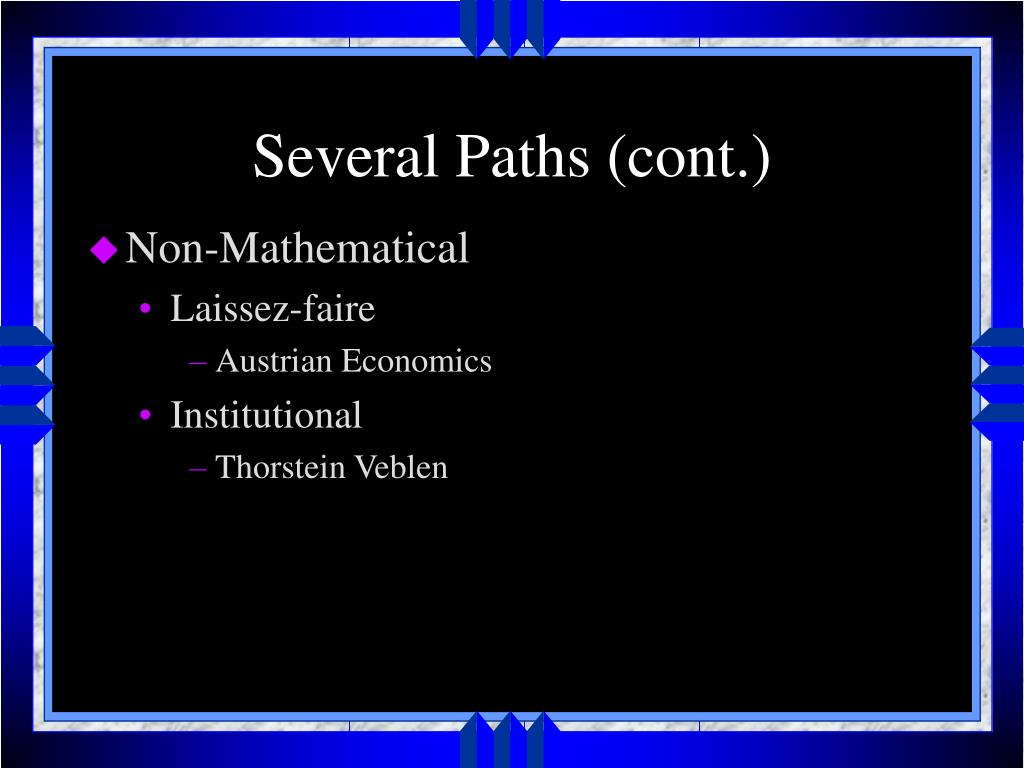 Several Paths (cont.)