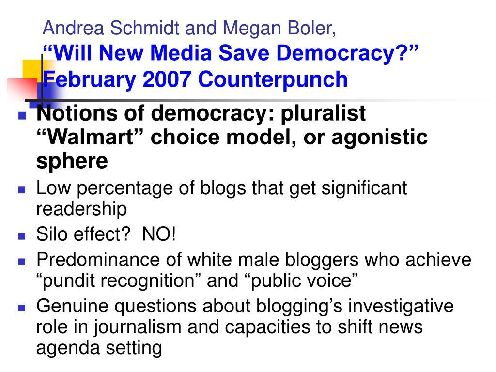 Andrea Schmidt and Megan Boler,
