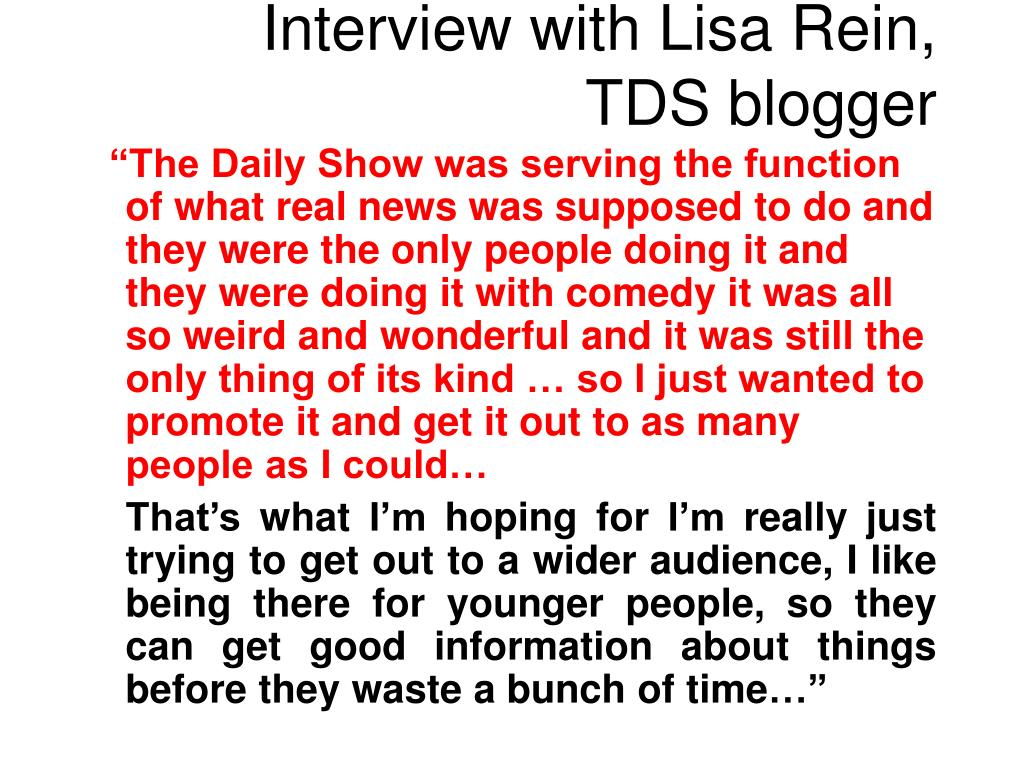 Interview with Lisa Rein,